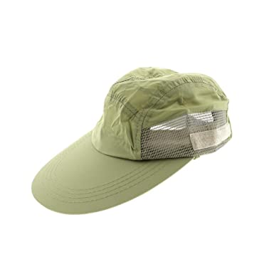 60b15c3d Dorfman Pacific Co. Men's Supplex Cap with Mesh, Khaki, One Size at Amazon Men's  Clothing store: Hats With Neck Protection