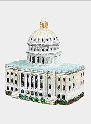 Capitol Building Washington DC Polish Glass Christmas Ornament Decoration