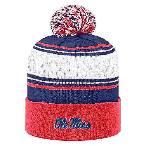 Ole Miss Rebels Knit Winter Beanie Pom-pom - White