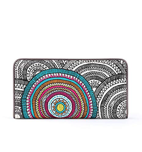 Sakroots Slim Wallet, Black and white wanderlust for sale  Delivered anywhere in USA