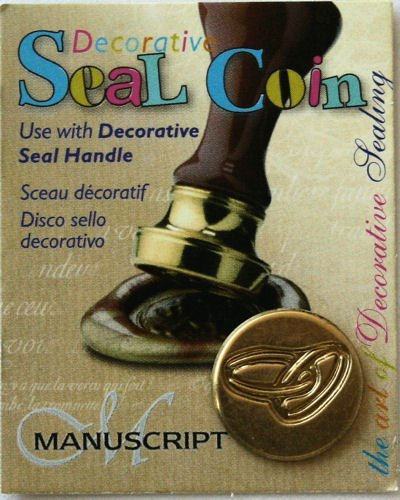 Manuscript Pen Decorative Seal Coin, 0.75-Inch, Rings