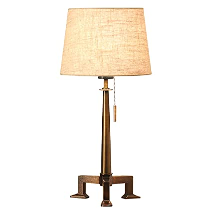 Yuan Lámpara de Mesa - Lámpara de Mesa de Hierro Forjado, de ...