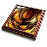 "3dRose trv_3083_1 Digital Artwork Design 10 Trivet with Ceramic Tile, 8 by 8"", Brown"
