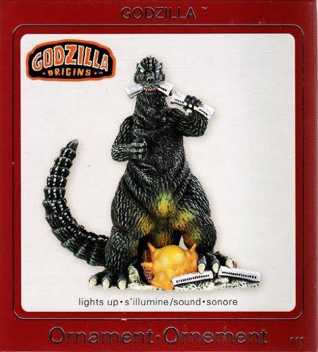 Godzilla Biting Train 2009 Carlton Ornament