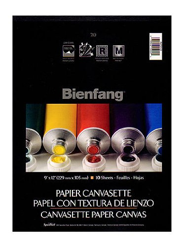 Bienfang Canvas (Bienfang Canvasette Paper Canvas 9 in. x 12 in. pad of 10 sheets [PACK OF 2 ])