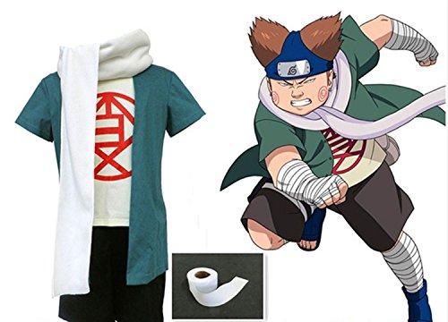 [LYLAS Naruto Akimichi Choji Bundle Cosplay Costume (Male-XXL)] (Choji Cosplay Costume)
