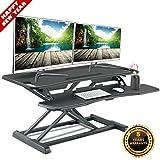 Standing Desk Converter-Height Adjustable Sit Stand Desk Riser-Stand up Tabletop Computer Workstation