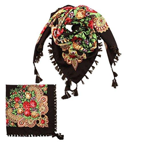 Free Fat Tortillas Flour - Fashion Classic Women Wraps Scarves Big Square Scarf Foural Cotton Headband