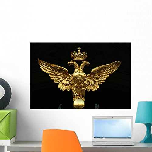 (Romanov Double Eagle Crest Wall Mural by Wallmonkeys Peel and Stick Graphic (24 in W x 16 in H) WM333841)