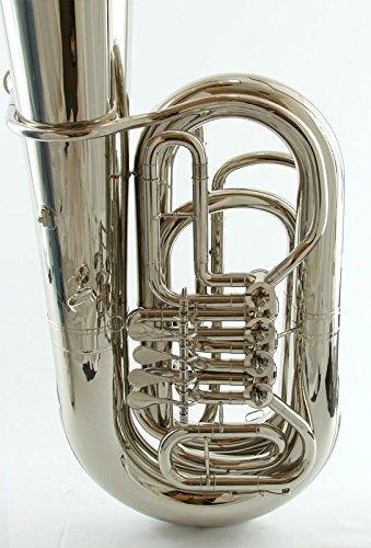 Schiller BB 4 Valve Rotary Tuba - Nickel Plated