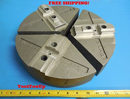 NEW HURON 12 ALUMINUM PIE JAWS FOR CNC LATHE TURNING MILLING AT 12 FG ()