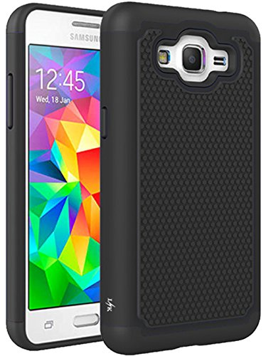 Cheap Cases Grand Prime Case, LK [Shock Absorption] Hybrid Dual Layer Armor Defender Protective..