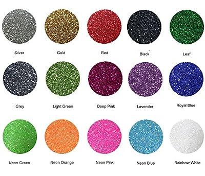 """Fame Crafts Glitter Heat Transfer Vinyl (HTV), 12"""" x 10"""" 15-Color Starter BUNDLE by Fame Crafts"""