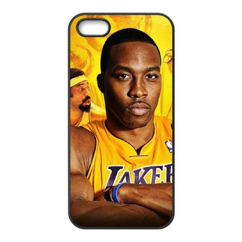 Dwight Howard coque iPhone 5 5S cellulaire cas coque de téléphone cas téléphone cellulaire noir couvercle EOKXLLNCD23378