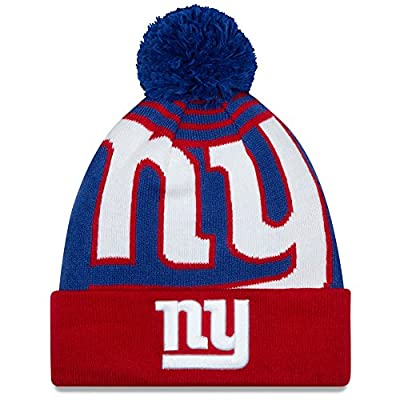 """New York Giants New Era NFL """"Logo Whiz 2"""" Cuffed Knit Hat with Pom"""