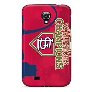 Shock Absorbent Hard Cell-phone Case For Samsung Galaxy S4 (FJu14248QVdj) Support Personal Customs Trendy St. Louis Cardinals Series