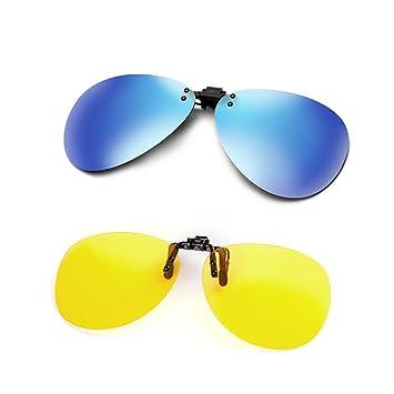 Cyxus [2 paquetes] aviador flash polarizado reflejado lentes clásico gafas de sol Gafas con