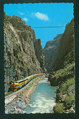 Denver Rio Grande Diesel Engine Royal Gorge Canyon Train CO Colorado Railroad Postcard