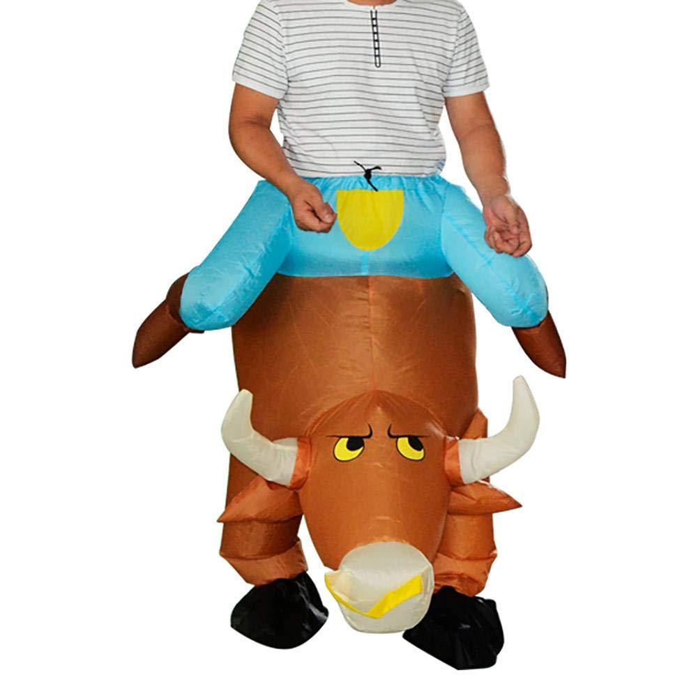 Amazon.com: Disfraz hinchable de Vaquero Bull Disfraz Blow ...