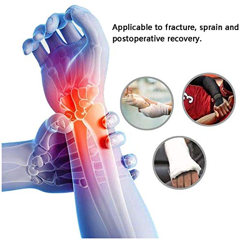 TOVIKI Wrist Support Brace Right /Left Hand with 2 Metal Splints for Joint Pain Arthritis Carpal Tunnel Pain Tendonitis for Men and Women Black