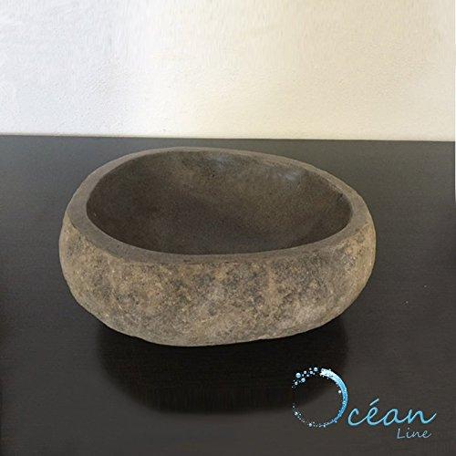de Piedra de r/ío 30/cm Lavabo de sobremesa Oc/éan Line Gal/éo