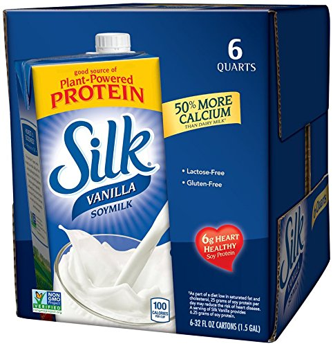Silk Vanilla All Natural Soymilk, 32-Ounce Aseptic Cartons (Pack of 6)