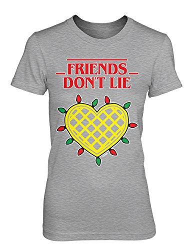 Friends Don't Lie Juniors T-shirt (Light Gray, (Friend Womens Light T-shirt)