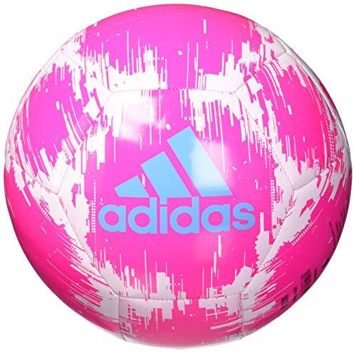 : adidas Glider 2 Soccer Ball, Shock Pink/White/Bright Cyan, 5