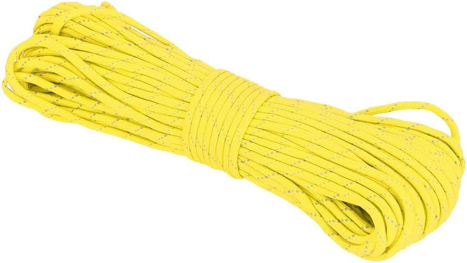 Tihebeyan 7 Strand Paracord 31Meters ReflectiveParachute Cord High Strength Durable Parachute Cord for Outdoor Activity