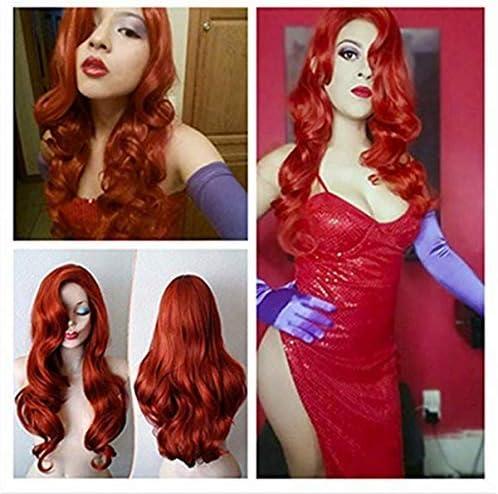 Longlove Peluca de pelo rojo de cobre con personajes de dibujos ...