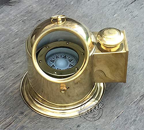 AV Ship/Boat Binnacle Gimbals Compass with Oil Lamp Collectible Marine Gifts