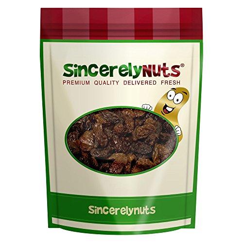 Sincerely Nuts Golden Jumbo Raisins - Five Lbs. Bag  Bigger, Juicier & More Delicious - Full of Iron, Calcium & Antioxidants Kosher Certified