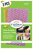 Non-Scratch HEAVY DUTY Scouring Pad or Pot Scrubber Pads (1 Pk of 2)