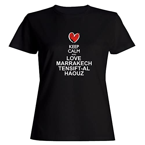 Idakoos Keep calm and love Marrakech Tensift Al Haouz chalk Maglietta donna