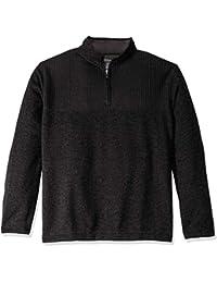 Men's Big and Tall Flex 1/4-Zip Solid Sweater