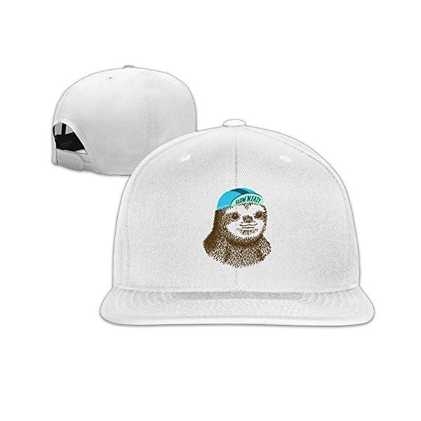 Slow 'N Eazy Sloth Funny Cute Cool Unisex Snapback Flat Bill Baseball Caps -