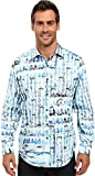 Robert Graham Men's Shallow Ponds Long Sleeve Woven Shirt Seaglass Button-up Shirt SM