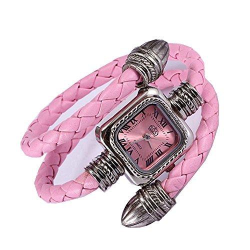 Women Automatic Mechanical Wrist Watch with PU Band (White) - 2