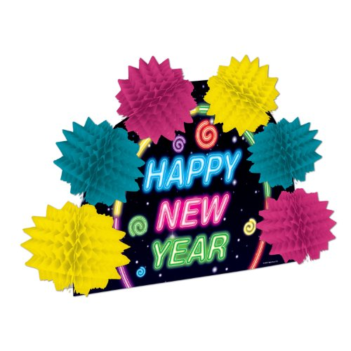 [Happy New Year Pop-Over Centerpiece Party Accessory (1 count) (1/Pkg)] (Happy New Year Costumes)