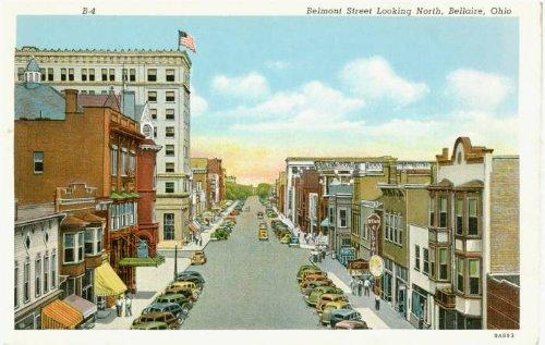 Photo Reprint Belmont Street Looking North, Bellaire, Ohio 1931-1940