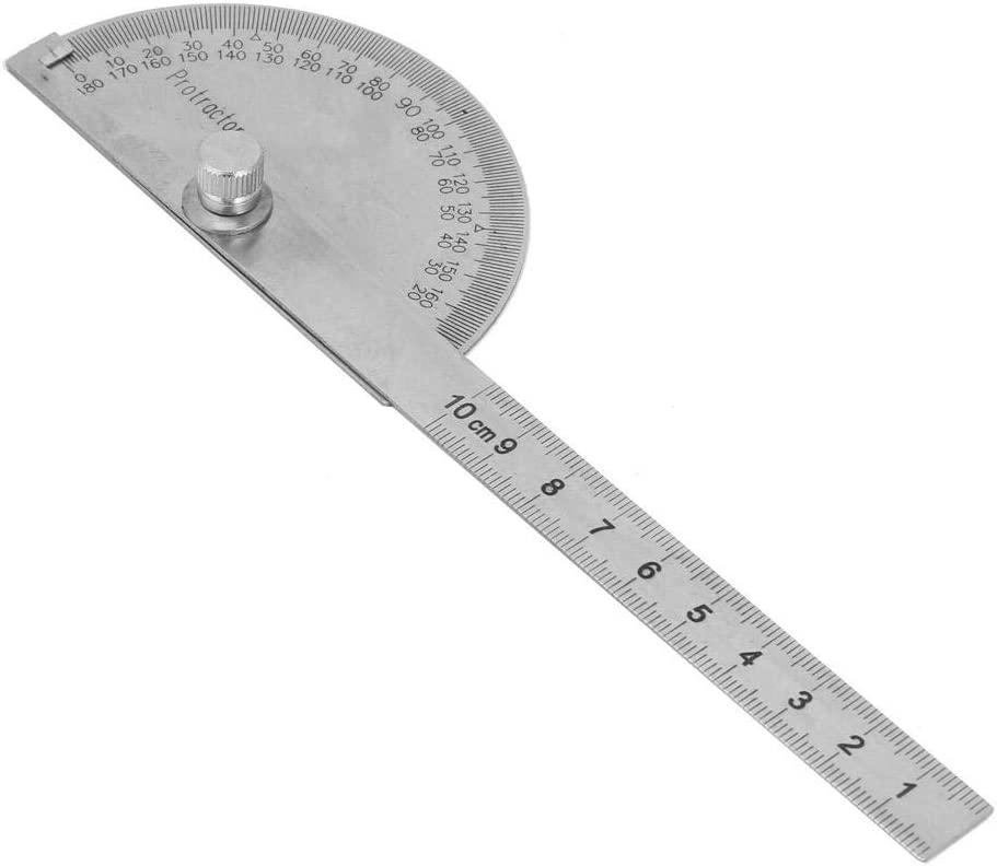 Stainless Steel 180 degree Protractor Angle Finder Rotary Measuring Ruler Tool