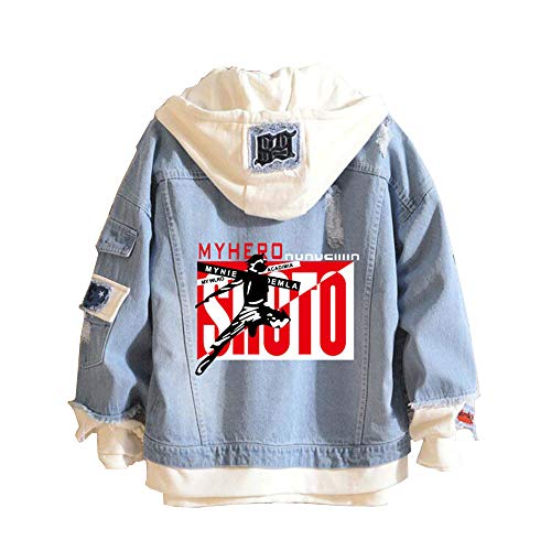 Boku No Hero Academia My Hero Academia Denim Jacket Graphic Hoodie Cosplay Unisex Anime Expo(6,XL) -