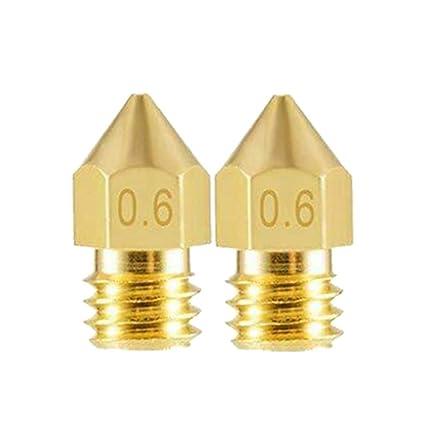 FENSIN Accesorios para impresora 3D Mk8 Latón punta de boquilla ...