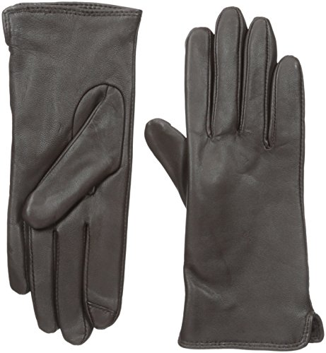 Touchpoint Women's Side Vent Leather Glove with Technology, Brown, Small