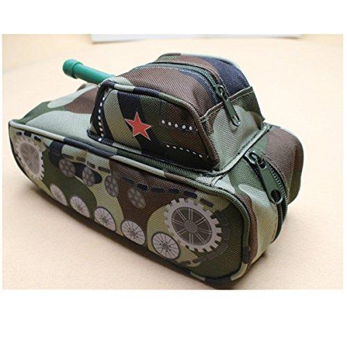 bureze Cool Tank Form Bleistift Fall Tasche Stationery Boy s School Pen Box Pen Fall Geldbörse