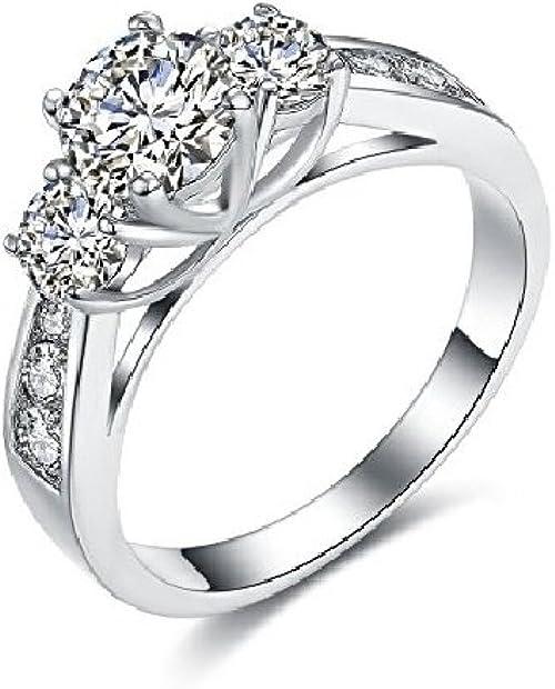 Vagabundo rural Terminología  Amazon.com: Anillos de mujer joyería fina moda 2018 compromiso aniversario  matrimonio moda de lujo juego de anillos de boda para mujer vidrio de  circonio ri0053, sin metal, 8, LXC0871: Jewelry