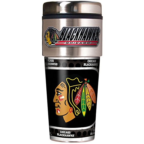 NHL Chicago Blackhawks Metallic Travel Tumbler,  16-Ounce