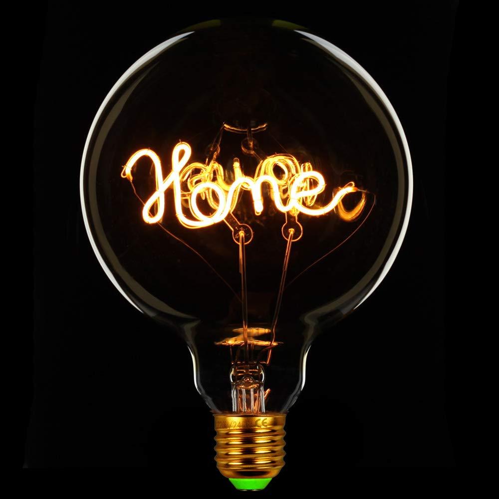 TIANFAN Vintage Light Bulbs Led Bulb 4Watts Dimmable Love//Home Letter Decorative Light Bulbs 220//240V E27 Table Lamp Love