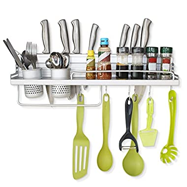 Stargoods Kitchen Utensils Rack & Shelf Holder Organizer Wall Deck