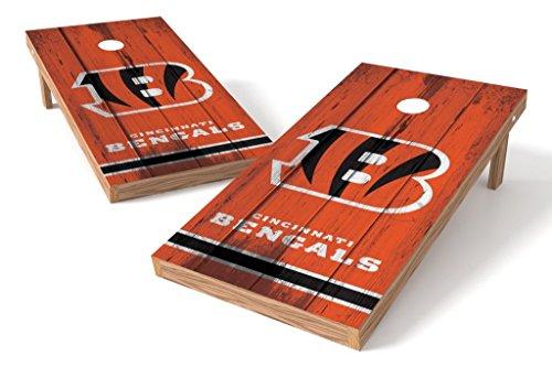 PROLINE NFL Cincinnati Bengals 2'x4' Cornhole Board Set - Vintage (Cornhole Bags Cincinnati)